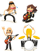 Cartoon Rock band character collection.