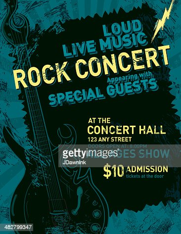 concert press release template - rock concert poster design template vector art getty images