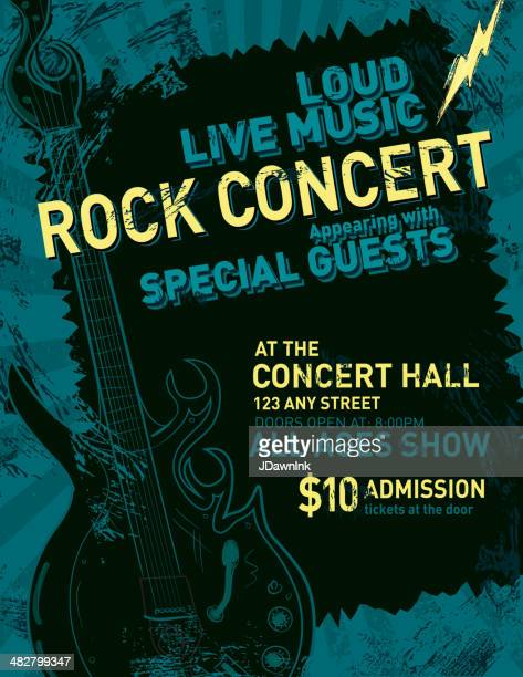 Rock concert poster design template