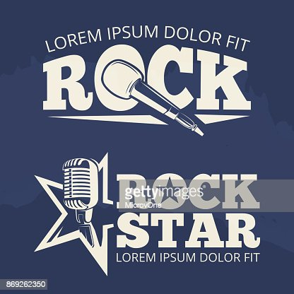 Rock star music labels on grunge backdrop : stock vector