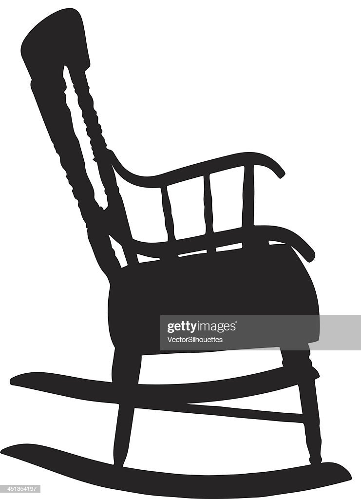 Rocking Chair Silhouette : Vector Art