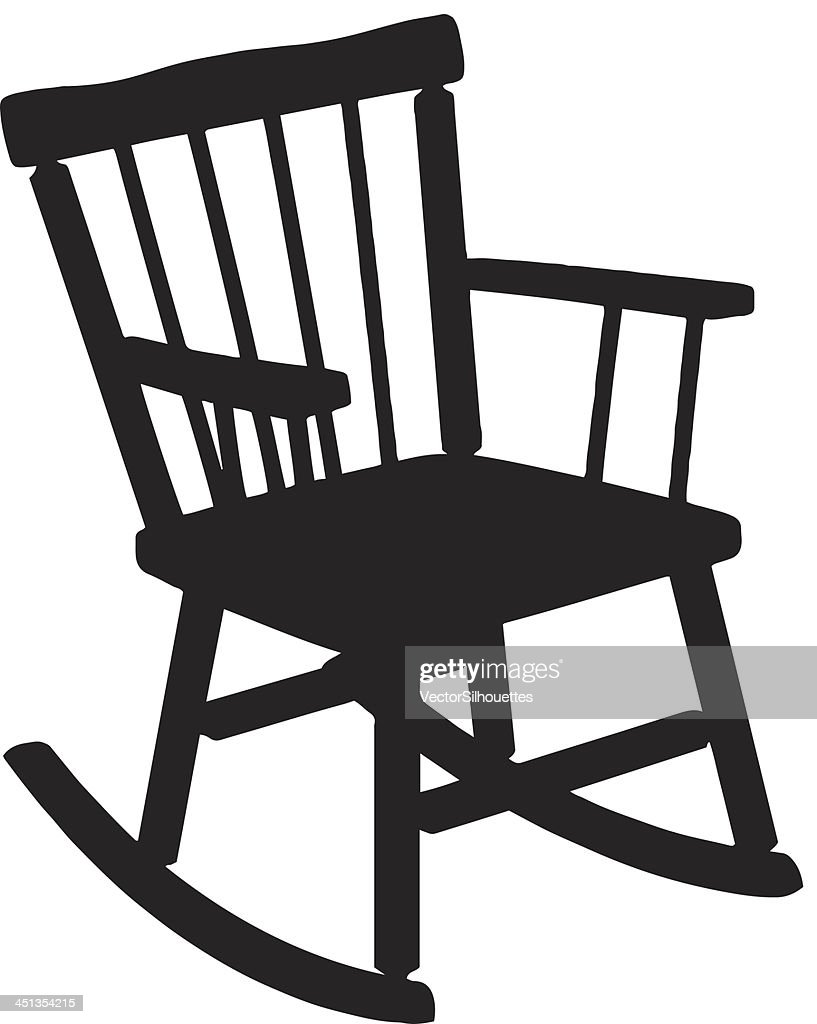 Charmant Rocking Chair Silhouette : Vector Art