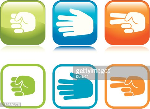 Rockpaperscissors Vector Art | Getty Images