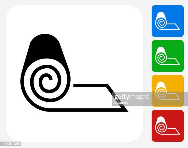 Roll of Fabric Icon Flat Graphic Design