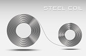 Rolled steel coil, steel sheet for make icon or logo