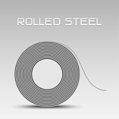 Rolled steel coil, steel sheet