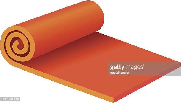 Rolled Yoga Mat