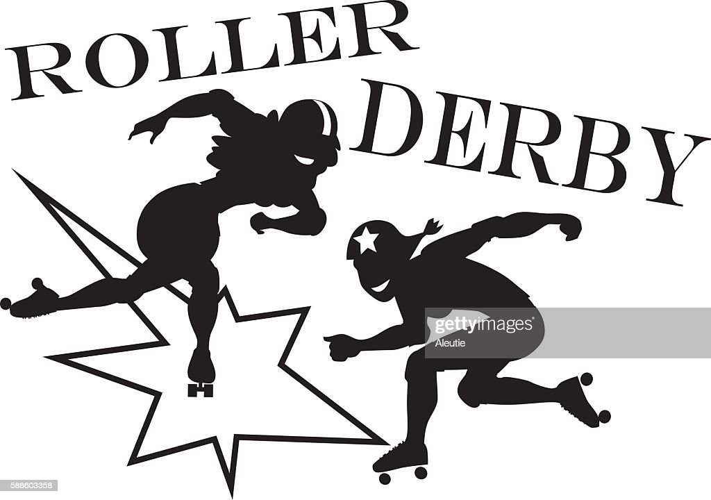 roller derby clipart vector art thinkstock rh thinkstockphotos co uk Vintage Roller Derby Posters Roller Skate Clip Art