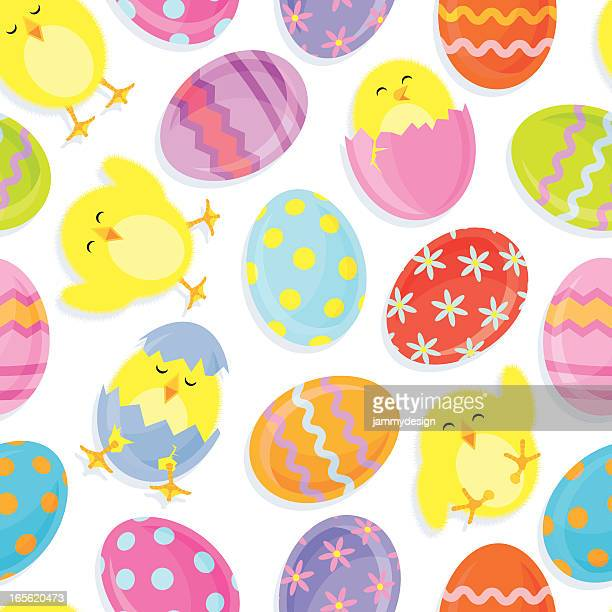 Roly Poly Easter Chicks & Eggs