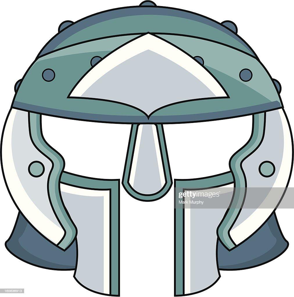 roman gladiators helmet in cartoon style vector art getty images