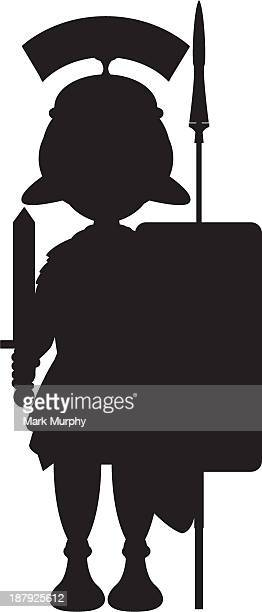 Roman Soldier in Silhouette