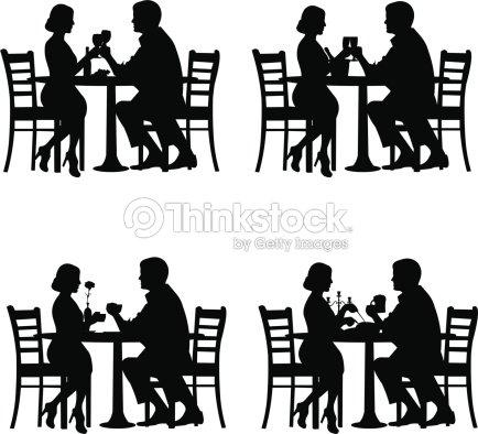 Romantic couple in dinner vector art thinkstock for Comedor vector