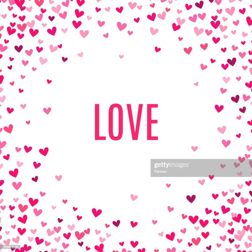 Romantic pink heart background. Vector illustration : Vector Art