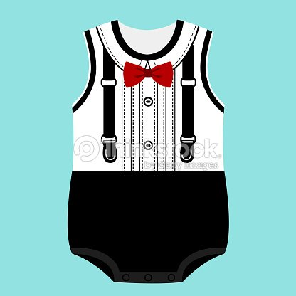 402f5f865 Romper Suit Childrens Tuxedo stock vector
