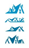 Set of abstract elements for logo creation