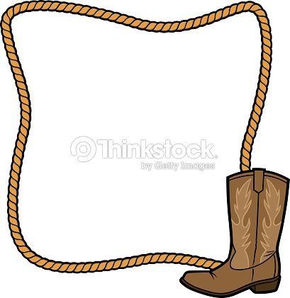 Rope Frame And Cowboy Boot Vector Art | Thinkstock
