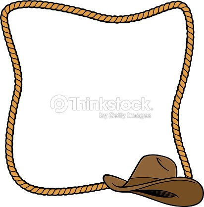 Rope Frame And Cowboy Boot Vector Art   Thinkstock