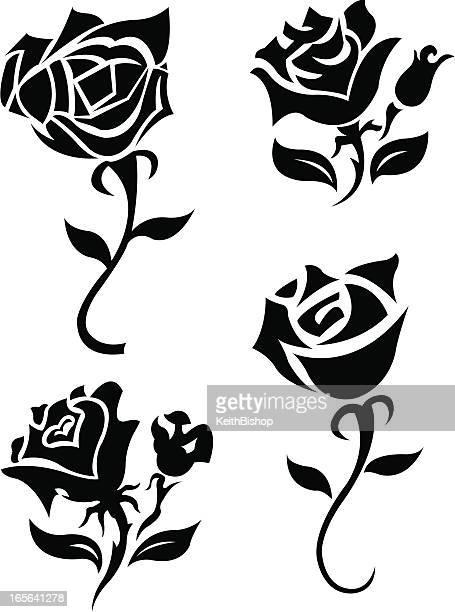 Rose Blumen-Tattoo-Design
