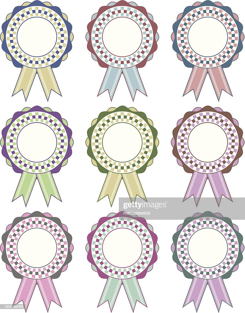 rosette decorations : Vector Art