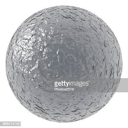 rough metallic ball : stock vector