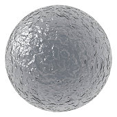 Rough ball with metallic texture. Vector illustration