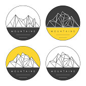 Concept for outdoor labels, prints and badges. Adventure vector set.