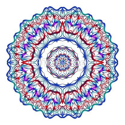 Coloriage Mandala Rond.Motif Floral Rond Mandala Coloriage Decoratif Element De Conception