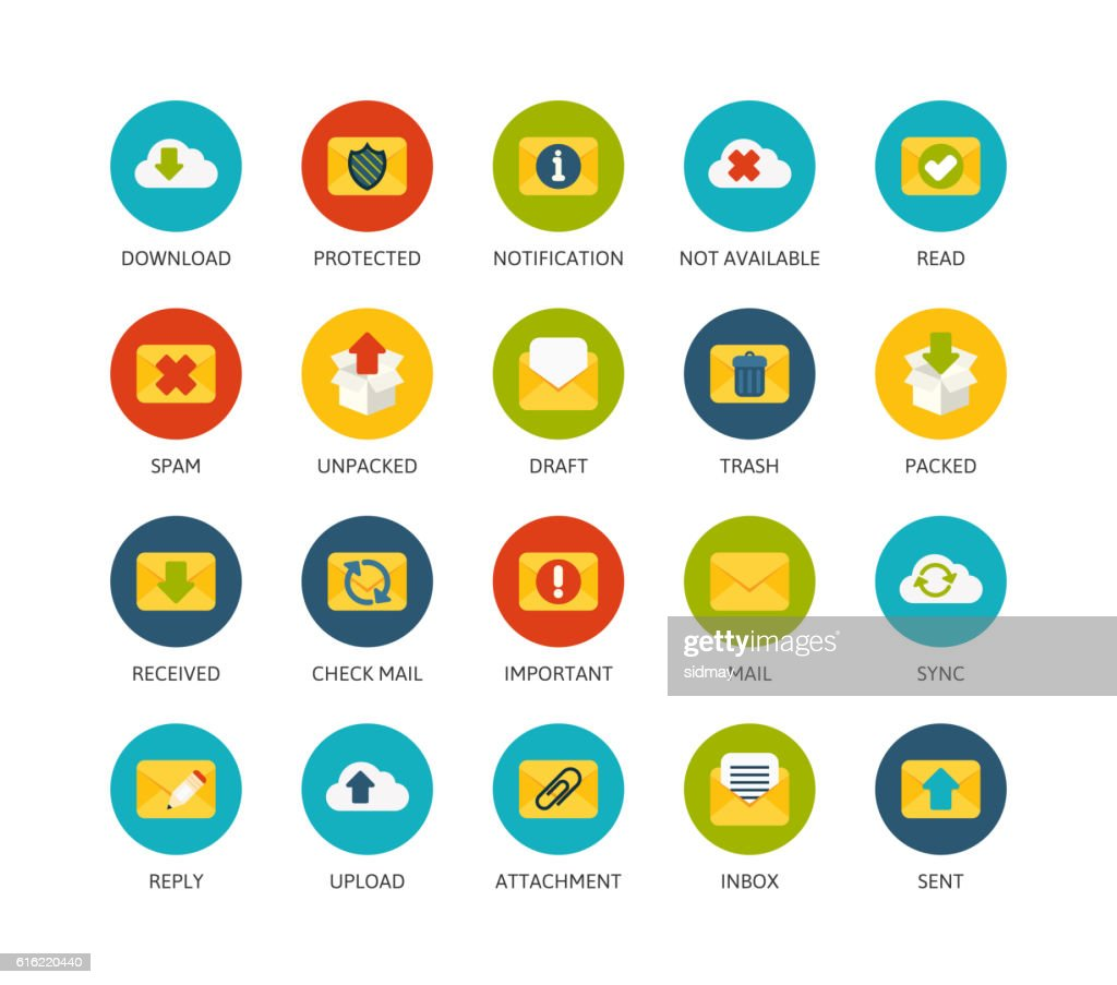 Round icons thin flat design, modern line stroke style : ベクトルアート