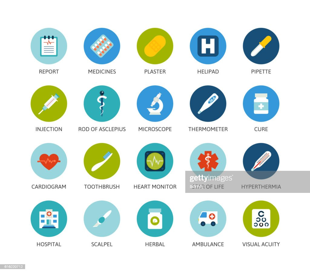 Round icons thin flat design, modern line stroke style : Vectorkunst