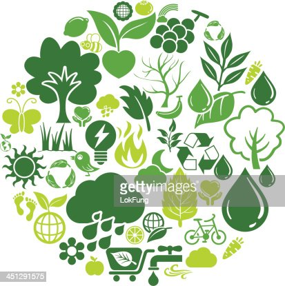 Round shape with nature icon vector art getty images - Circular house plans shapes from nature ...