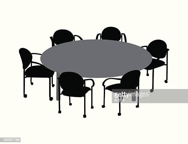 Round Table Vector Silhouette