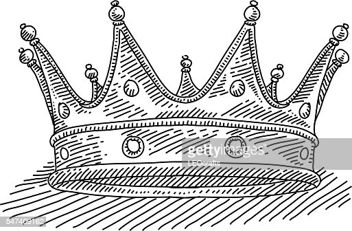 Royal Crown Drawing Vector Art   Getty Images