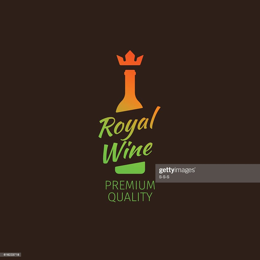 Royal wine premium quality colorful logo : Vector Art