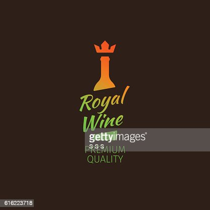 Royal wine premium quality colorful logo : Arte vettoriale