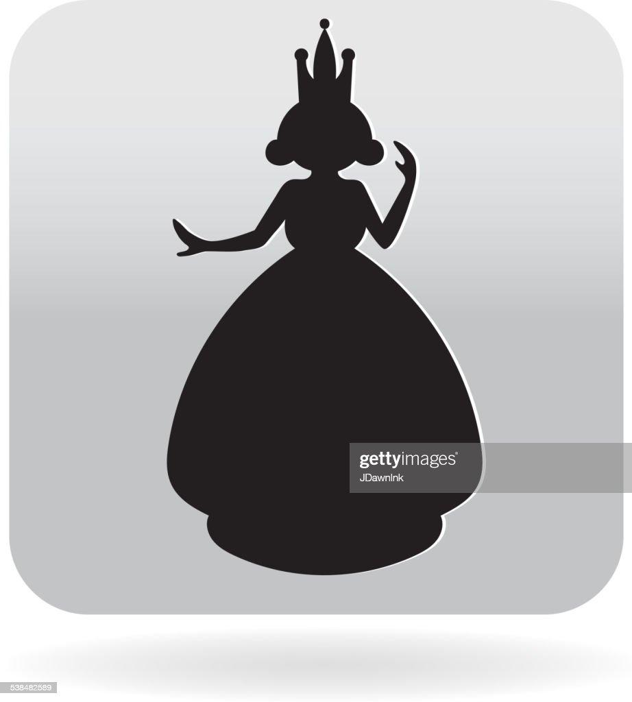 royalty free cartoon fairy princess silhouette icon vector art