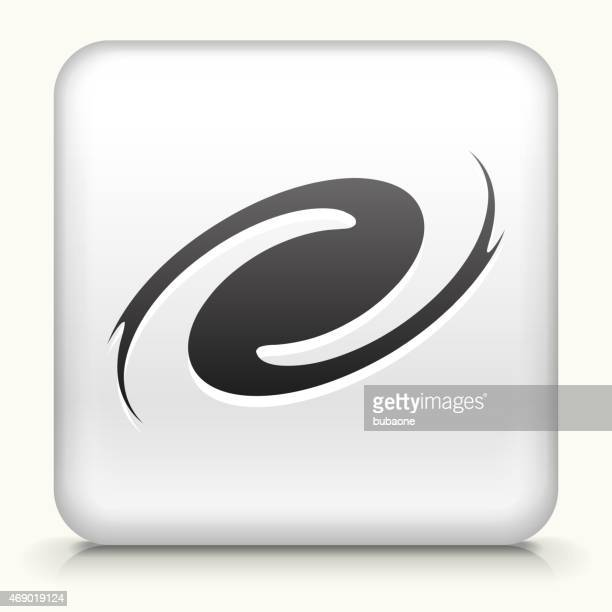 Sin royalties de vector icono botón con el huracán icono