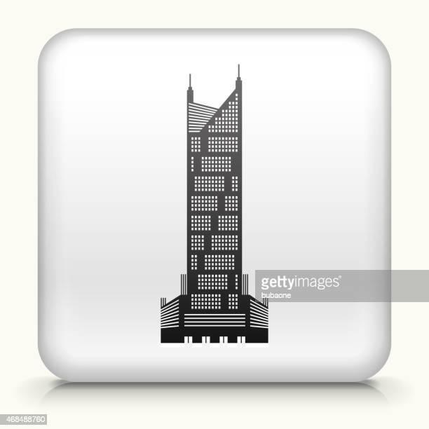Royalty free vector icon button with Skyscraper Icon