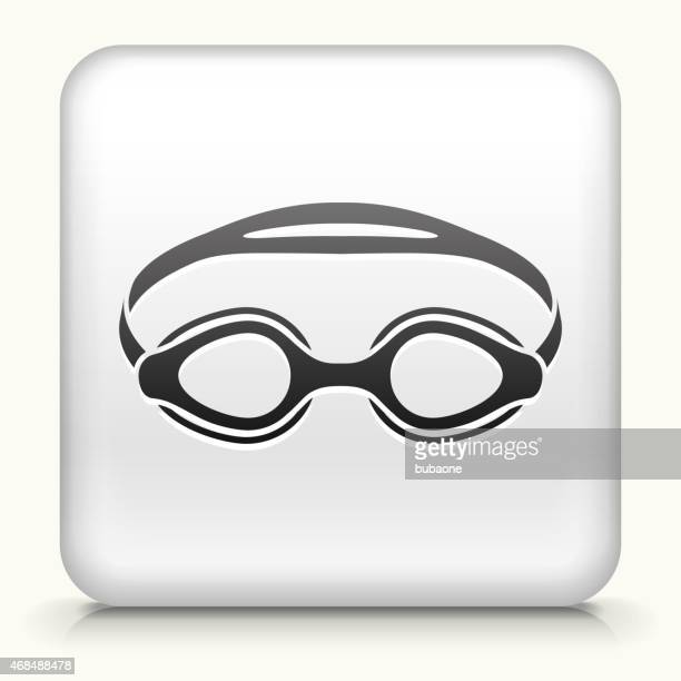 Royalty free vector icon button with Swimming Goggles