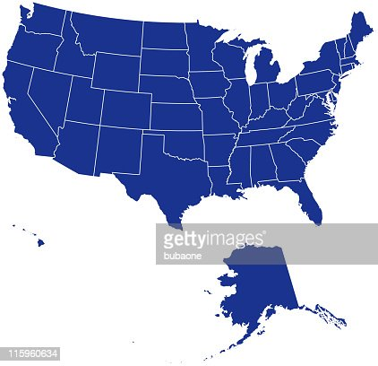 Blue Map Of Usa With Paper Cut Effect Vector Art Getty Images - Us map free vector