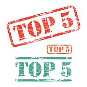 Rubber stamp design TOP FIVE