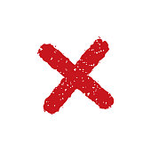 rubber stamp icon ( X , close , prohibited)