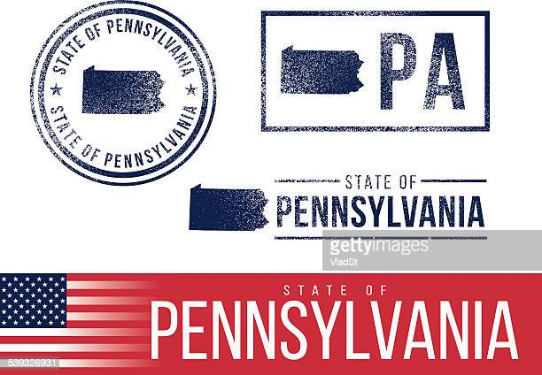 USA rubber stamps - State of Pennsylvania