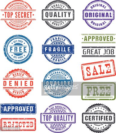 Rubber Stamps Vector Art | Getty Images