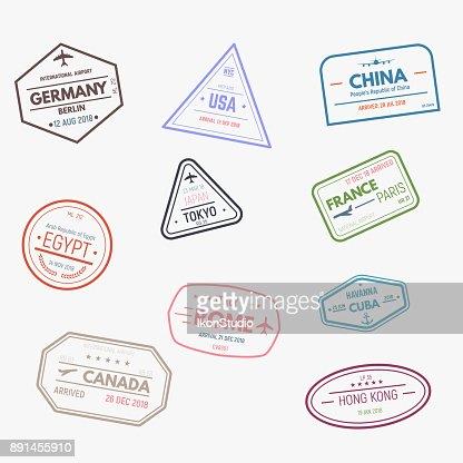 Visum-Stempel : Vektorgrafik