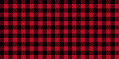 Ruby lumberjack buffalo plaid seamless background pattern.