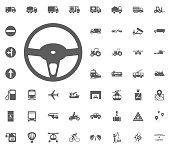 Rudder icon. Transport and Logistics set icons. Transportation set icons.