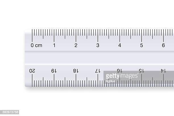 Ruler on white background - graduated in centimeters