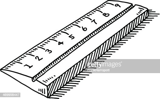 Drawing Lines With A Ruler Ks : Ruler symbol drawing vector art getty images
