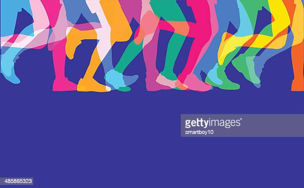 Runners legs sillhouettes