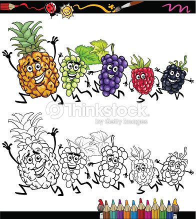 Cahier Coloriage Fruits.Running Page De Cahier De Coloriage De Dessin Anime De Fruits